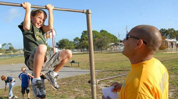 Изображение для статьи — Как правильно научить ребенка подтягиваться на турнике?